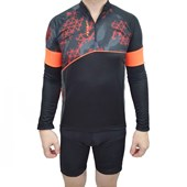 Camisa de Ciclismo Poker Challenge Dry Manga Longa Masculina