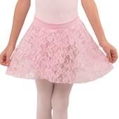 Saia Ballet Flexão Renda Transpassada Infantil